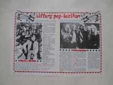 Ricky WIlde Ekseption Rein van den Broek clippings Sweden Swedish 1970s