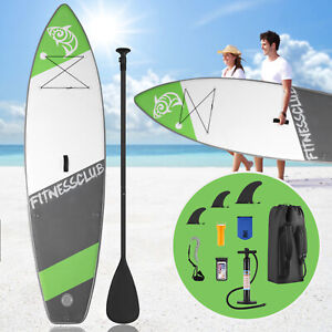 10' Inflatable Stand Up Paddle Boards Surfboard SUP w/Fin+Pump+Complete Kit+Bag