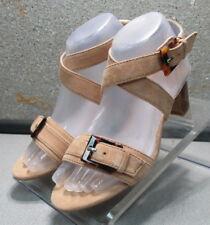 78NP112181 LDFSA30 Women's Shoes Size 7 M Beige Leather Sandals Johnston Murphy