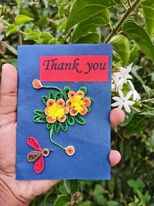 Thank You Cards Paper Quilling Cards Just To Say Thank You Blank Cards Handmade