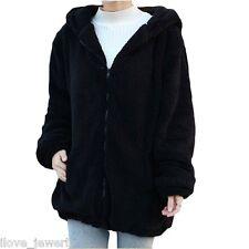 Women Warm Loose Bear Rabbit Ears Hoodie Hooded Jacket Outerwear Winter Coat Top