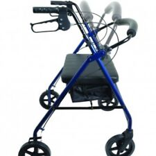 Compass Health WIDE Bariatric STEEL Rollator Heavy Duty  400 lb, Blue