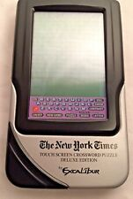 The NY Times Electronics Touch Screen Crossword Puzzle Hand Held Game Deluxe Ed