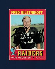 Fred Biletnikoff signed Oakland Raiders 1971 Topps football card