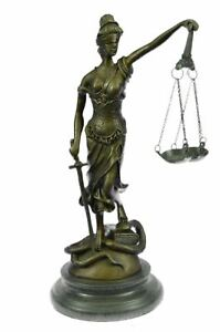 Lady Blind Justice Lawyer Law Student Legal Office Art Bronze Marble Statue Gift