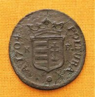 Medieval Transylvanian Coin - II. Rakoczi Bronze Freedom Poltura 1704.