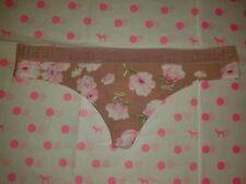 NWT Victoria's Secret PINK LOGO Mesh Waist Thong Panty - XS, S, M, L Watermelon!