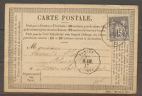 1877 CP 15c sage Conv Station Achiet AR.AM Superbe. PAS DE CALAIS (61) X1206