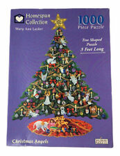 Vintage Spilsbury Christmas Angels 1000 Piece Puzzle Tree Shaped 3 Foot Long