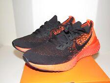 Nike Mens 7.5 Epic React Flyknit 2 Athletic Shoes Black Crimson Red Running NIB