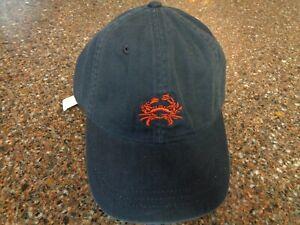 J.CREW Navy Blue Crab Hat Strapback Adjustable OSFM NWT New Cap