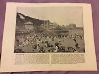 Antique Book Print - Scarborough - UK - c. 1895