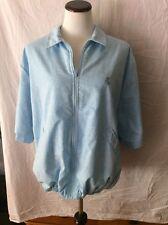 Countess Mara Short Sleeve Zip-Up Golf (?) Jacket ~ Xxl ~ Light Blue ~ Lined