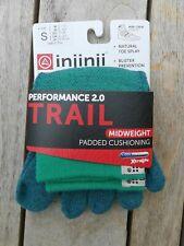 Injinji Performance 2.0 Trail Midwt Minicrew Coolmax Xlife Toe Socks Granite LG