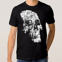 Horror Skull Art T-shirt, Horror Movies Combo Tee, Men's Women's All Sizes