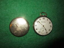 pocket watch Bulova 15 jewels cal 17 Ah 10 K Rgp