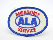 Vintage ALA Emergency Service Embroidered Sew On Red White Blue Uniform Patch
