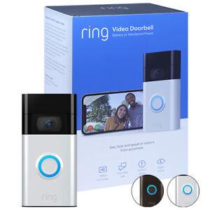 Ring Video Doorbell 1080p HD 2020 2'nd Generation Satin Nickel & Venetian Bronze