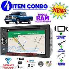 06 07 08 09 10 DODGE RAM DOUBLE DIN GPS NAVIGATION STEREO RADIO DVD CD DASH KIT