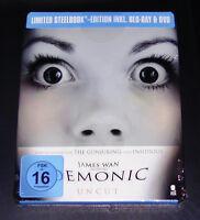 Demoniaco Haus Des Horrors Limitata steelbook Edizione blu ray + DVD Nuovo & Ovp