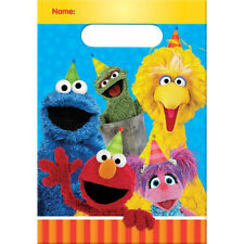 SESAME STREET Stars FAVOR BAGS (8) ~ Birthday Party Supplies Treat Loot Goody