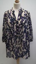 Purple Lepoard Print Sheer Blouse from Per Una size 20