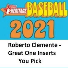 2021 Topps Heritage Roberto Clemente - The Great One - Insert singles - You Pick