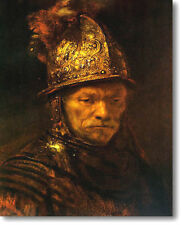"Rembrandt THE MAN with the GOLDEN HELMET Stretched Canvas Giclee Repro 36"" x 24"""