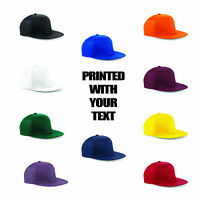 Personalised Snapback Rapper Cap B610 Customised Text Slogan Retro Style Hat