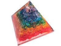 7 Chakra Orgon Orgonit Pyramide mit Cho Ku Rei Symbol