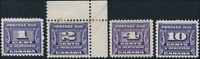 Canada #J11-J14 mint/used VF 1933-1934 Third Postage Due Issue Set CV$94.25