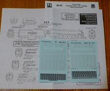 Microscale Decal N #60-63 Union Pacific: Steam Locomotives See Below 2 Sheet