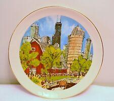 "VTG.  FRANKLIN MCMAHON 1976 LTD ED.  CHICAGO PLATE ""THE FARM..."" MADE IN U.S.A."