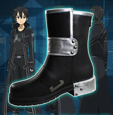 Sword Art Online Kazuto Kirigaya Kirito Cosplay Costume Shoes Boots US 5.5-9.5