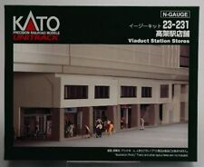 Kato Kit Double Track Viaduct Station Shops UniTrack N Scale 23-231 Mint