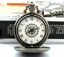 Anime Cosplay Black Butler Kuroshitsuji Sebastian Ciel Pocket Watch NEW in Box