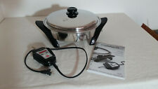 "Saladmaster 12"" 316Ti Titanium Stainless Electric Oil Core Skillet With Vapo Lid"