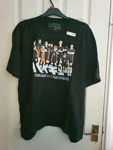 Anime Haikyuu Unisex T-shirt, Black, Brand New, Size XXL.