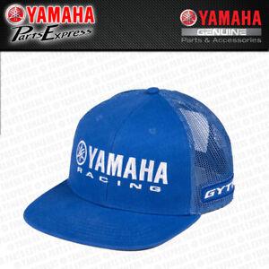 NEW YAMAHA FACTORY PADDOCK GYTR RACING TRUCKER HAT BLUE MESH YZ YZF YFZ 250 450