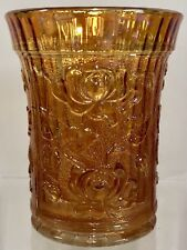 "Vintage Imperial Marigold Carnival Glass LUSTRE ROSE 4"" Tumbler Antique"