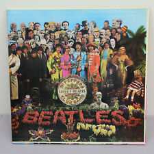 THE BEATLES SGT PEPPERS LONELY HEARTS CLUB BAND CUTOUTS LP RECORD VINYL VG+