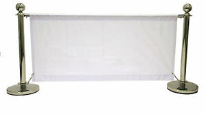 BANNERS ONLY, 1.4 meter white banners for our cafe barrier systems, cafe banner
