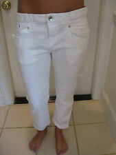 THEORY THEYSKENS WHITE DENIM JEANS WITH CUFFS  SIZE 28