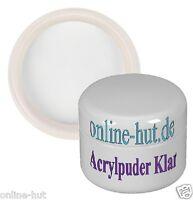 5ml Acryl Luxus Puder / Pulver, Acryl Powder, Klar, Clear, mit Gilbstop, 5 ml