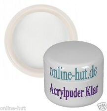 15ml Acryl Luxus Puder / Pulver, Acryl Powder, Klar, Clear, mit Gilbstop, 15 ml