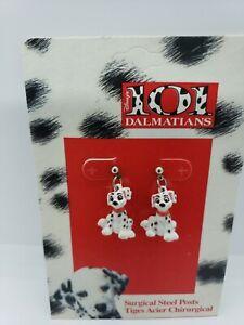 Disney 101 Dalmatians Jewelry earring vintage figurine 3-D puppy post figure noc