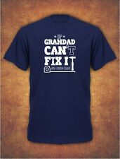 If Grandad Can't Fix It Birthday Fathers Day Gift  Mens T-Shirt  Navy