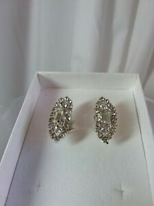 Vintage Deco Style Clip Earrings