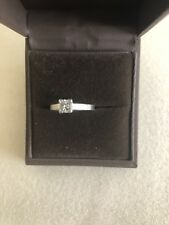 platinum diamond ring size j See Description