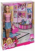 Barbie & Pets Set Bambola con Accessori Doll Mattel